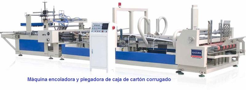 Dobladora-Pegadora de cajas de cartón corrugado Modelo AFG-2400