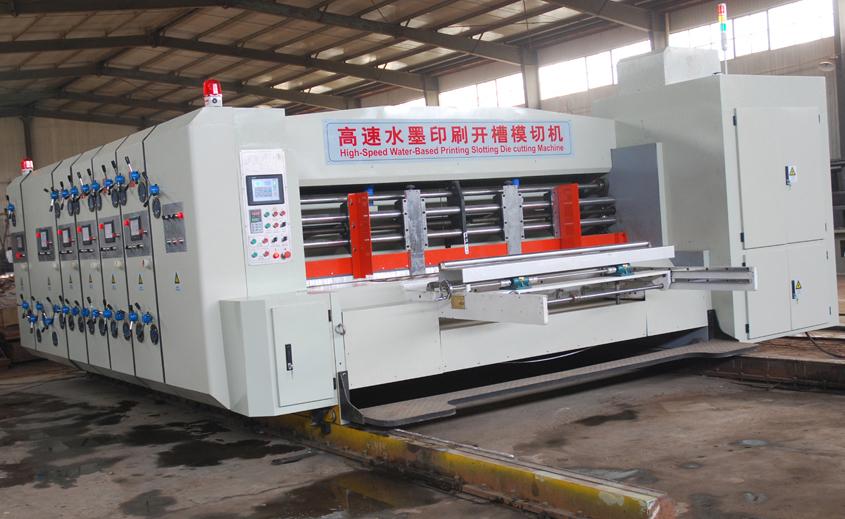 Impresora Flexo 3 colores ,con troquelador rotativo y apilador-limpiador automático